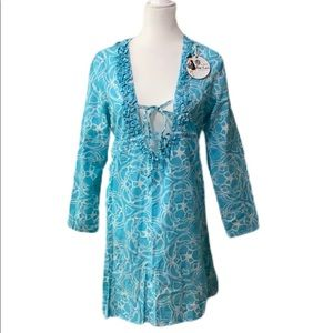 NWT Mud Pie Anna Bell Tunic/ Cover Up